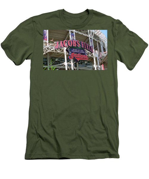Jacobs Field - Cleveland Indians Men's T-Shirt (Slim Fit) by Frank Romeo