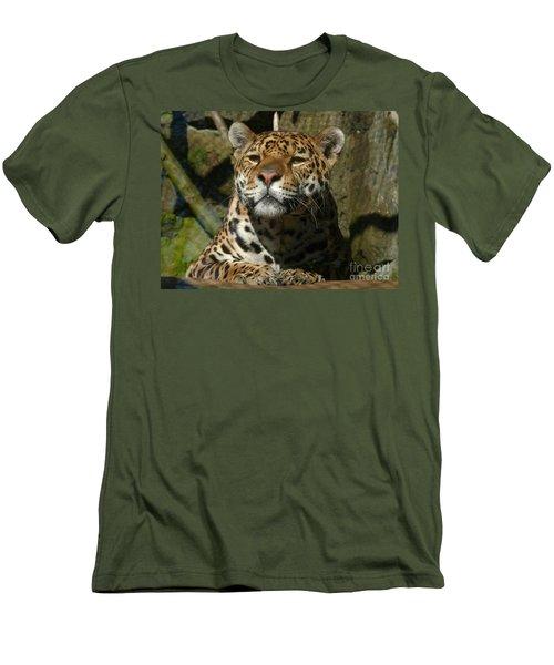 Men's T-Shirt (Slim Fit) featuring the photograph Jaguar by Phil Banks