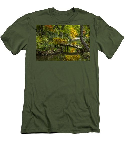 Men's T-Shirt (Slim Fit) featuring the photograph Japanese Garden by Sebastian Musial
