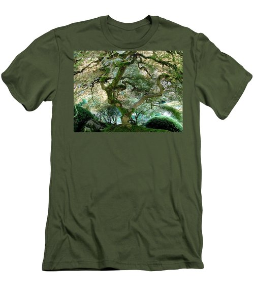 Men's T-Shirt (Slim Fit) featuring the photograph Japanese Maple Tree II by Athena Mckinzie