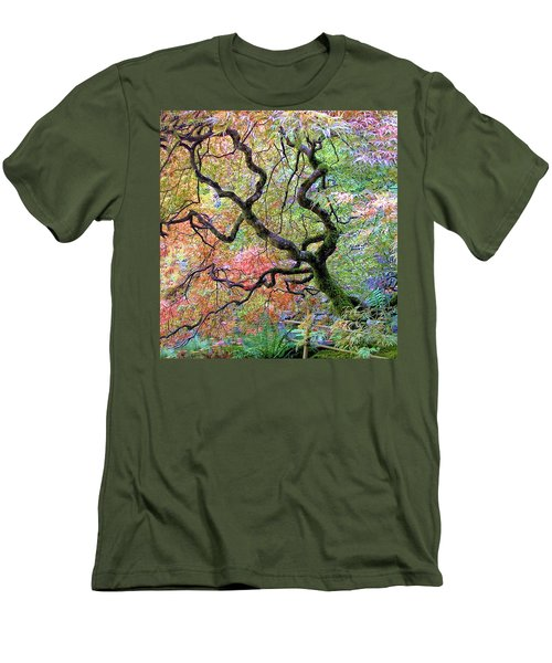 Men's T-Shirt (Slim Fit) featuring the photograph Japanese Maple by Wendy McKennon