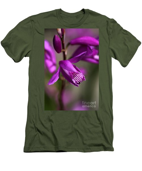 Men's T-Shirt (Slim Fit) featuring the photograph Japanese Orchid by Joy Watson