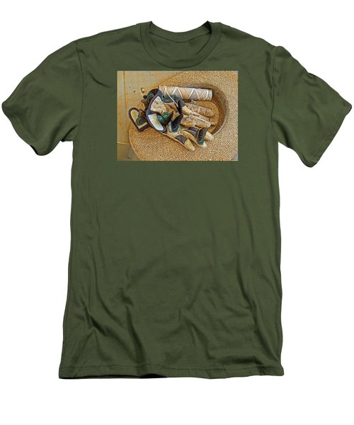 Men's T-Shirt (Slim Fit) featuring the photograph Jean's Butterflies by Larry Bishop