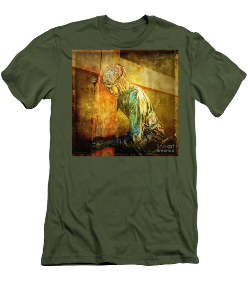 Jesus Falls Via Dolorosa 3 Men's T-Shirt (Athletic Fit)