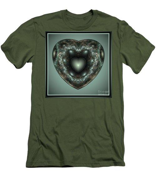 Jewel Heart Men's T-Shirt (Athletic Fit)