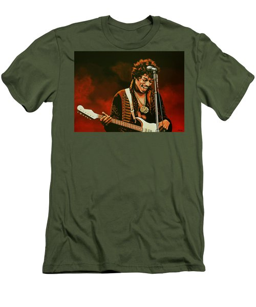 Jimi Hendrix Painting Men's T-Shirt (Athletic Fit)