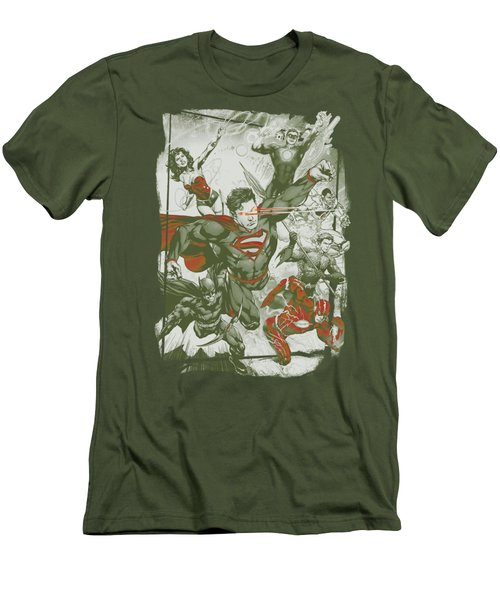 Jla - Green And Red Men's T-Shirt (Athletic Fit)