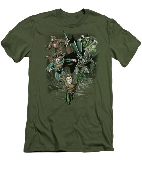 Jla - Spacing Out Men's T-Shirt (Athletic Fit)