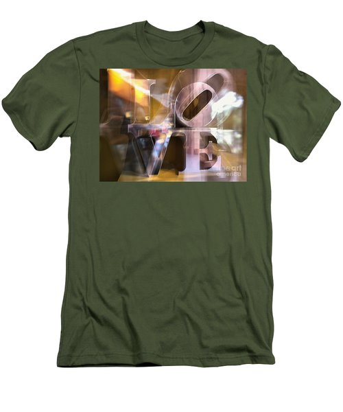 Men's T-Shirt (Slim Fit) featuring the photograph John Chapter 13 Verse 34 by John S