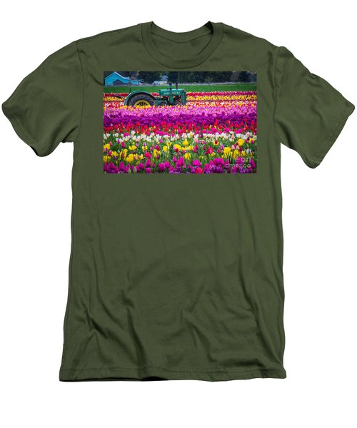 John Deere In Spring Men's T-Shirt (Athletic Fit)