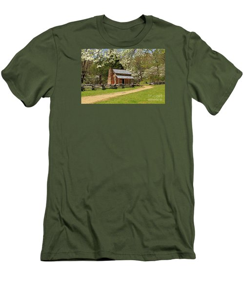 Men's T-Shirt (Slim Fit) featuring the photograph John Oliver's Cabin by Geraldine DeBoer