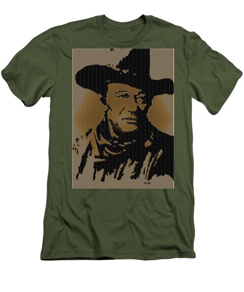 John Wayne Lives Men's T-Shirt (Athletic Fit)