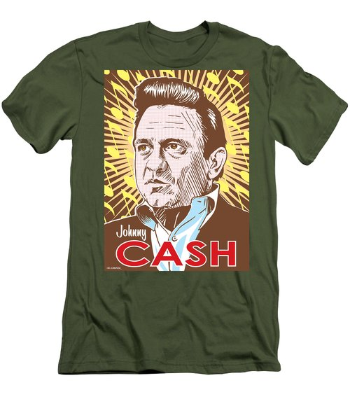 Johnny Cash Pop Art Men's T-Shirt (Slim Fit) by Jim Zahniser