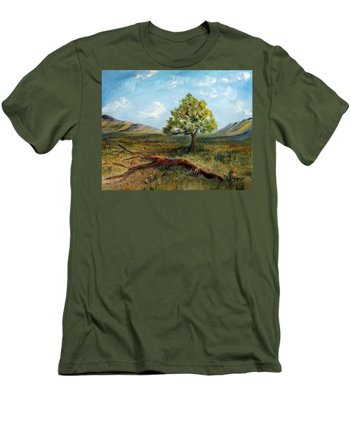 Men's T-Shirt (Slim Fit) featuring the painting Jubilant Fields by Meaghan Troup