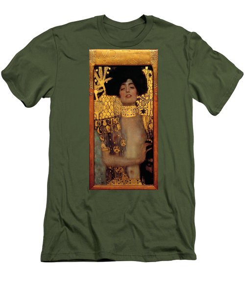 Judith And The Head Of Holofernes Men's T-Shirt (Slim Fit) by Gustav Klimt