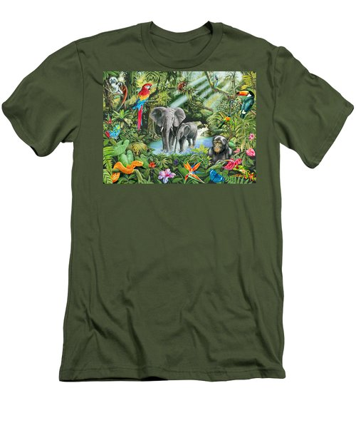 Jungle Men's T-Shirt (Slim Fit) by Mark Gregory