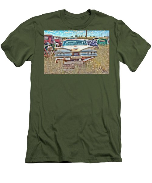 Junkyard Series 1960's Chevrolet Impala Men's T-Shirt (Athletic Fit)