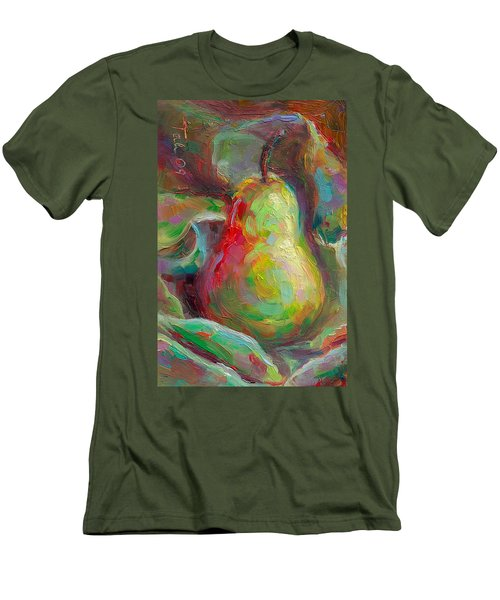 Just A Pear - Impressionist Still Life Men's T-Shirt (Athletic Fit)