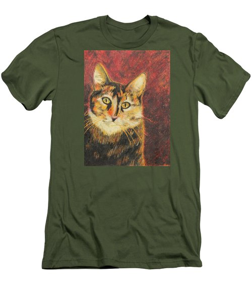 Men's T-Shirt (Slim Fit) featuring the painting Kaco by Jeanne Fischer