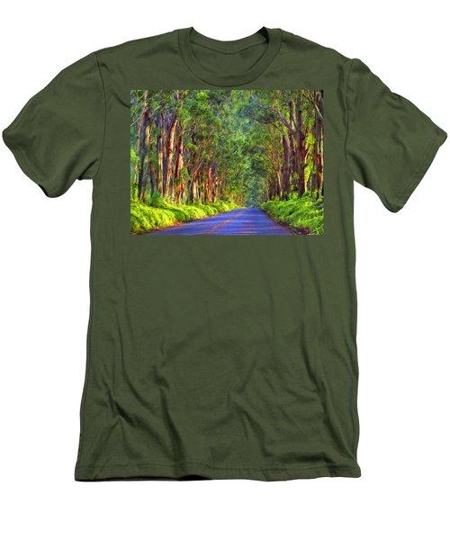Kauai Tree Tunnel Men's T-Shirt (Slim Fit) by Dominic Piperata