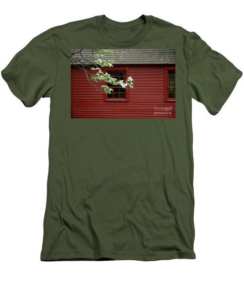 Men's T-Shirt (Athletic Fit) featuring the photograph Keeney School House by Christiane Hellner-OBrien