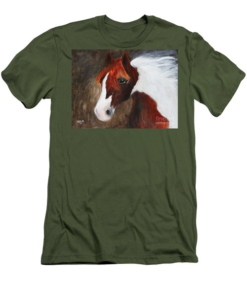 Men's T-Shirt (Slim Fit) featuring the painting Kidden by Barbie Batson