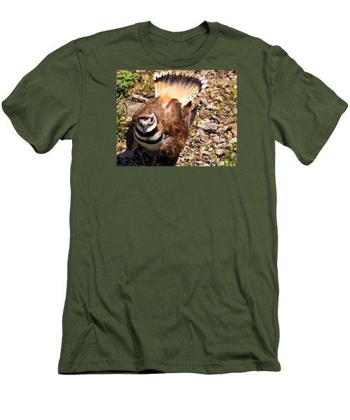 Killdeer On Its Nest Men's T-Shirt (Slim Fit) by Chris Flees