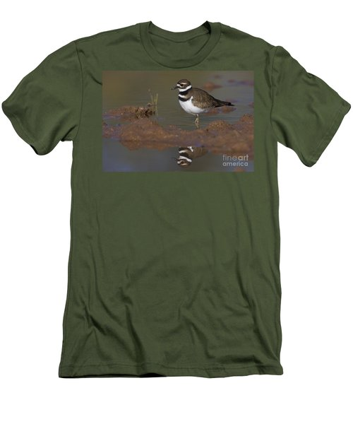 Men's T-Shirt (Slim Fit) featuring the photograph Killdeer Reflection by Bryan Keil