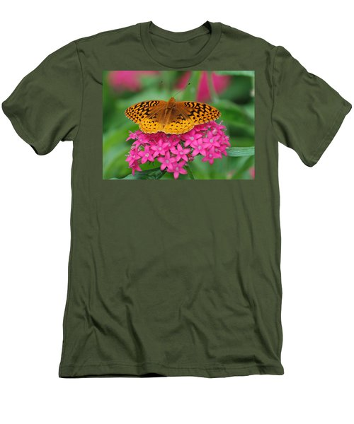 Men's T-Shirt (Slim Fit) featuring the photograph Kim's Bosom Buddies Support by Richard Bryce and Family