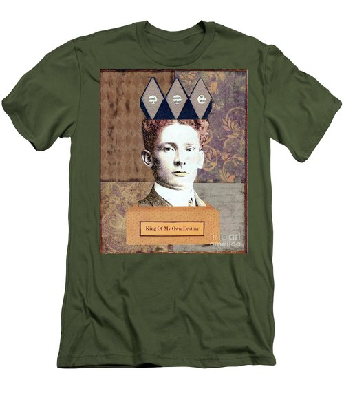 Men's T-Shirt (Slim Fit) featuring the mixed media King Of My Own Destiny by Desiree Paquette
