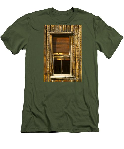 Men's T-Shirt (Slim Fit) featuring the photograph Kirwin Window-signed-#0223 by J L Woody Wooden