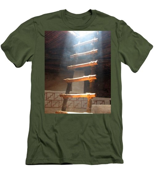Men's T-Shirt (Slim Fit) featuring the photograph Kiva Ladder by Marcia Socolik