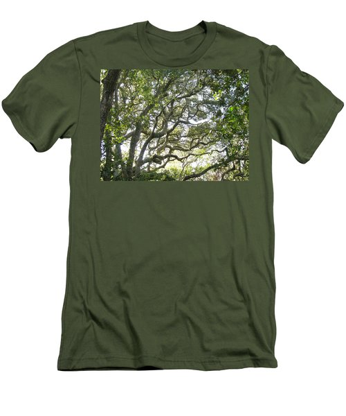 Knarly Oak Men's T-Shirt (Slim Fit) by Ellen Meakin