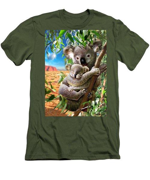 Koala And Cub Men's T-Shirt (Athletic Fit)