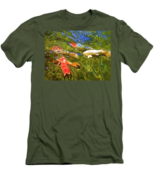 Men's T-Shirt (Slim Fit) featuring the photograph Koi 1 by Pamela Cooper