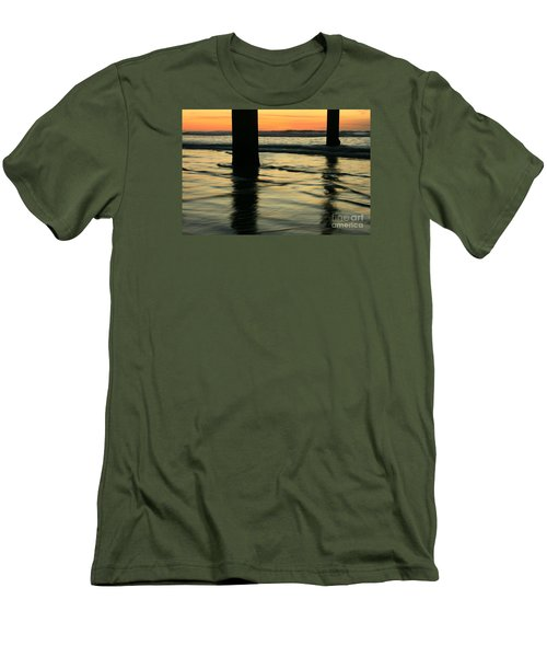 Men's T-Shirt (Slim Fit) featuring the photograph La Jolla Shores Sunset by John F Tsumas