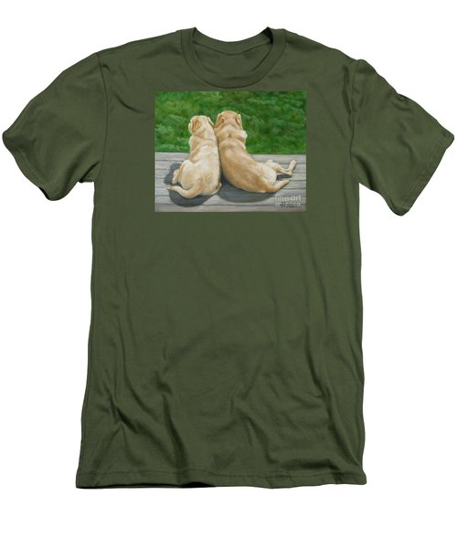 Labrador Lazy Afternoon Men's T-Shirt (Athletic Fit)