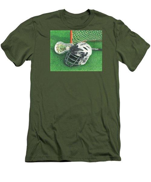 Lacrosse Men's T-Shirt (Slim Fit) by Troy Levesque