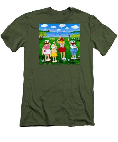 Ladies League Door County Men's T-Shirt (Slim Fit) by Pat Olson