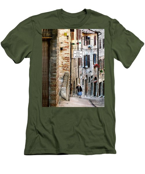 Lady In Urbino Men's T-Shirt (Slim Fit) by Jennie Breeze