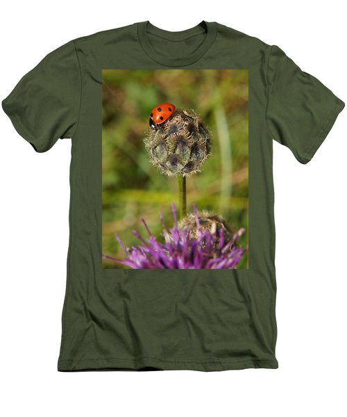 Men's T-Shirt (Slim Fit) featuring the digital art Ladybird by Ron Harpham