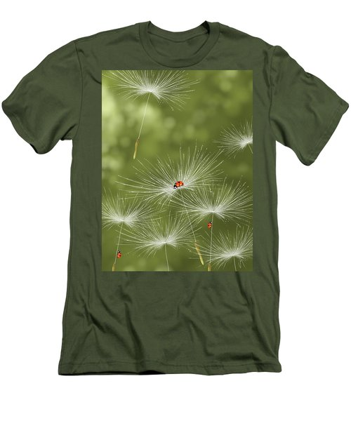 Ladybug Men's T-Shirt (Slim Fit) by Veronica Minozzi