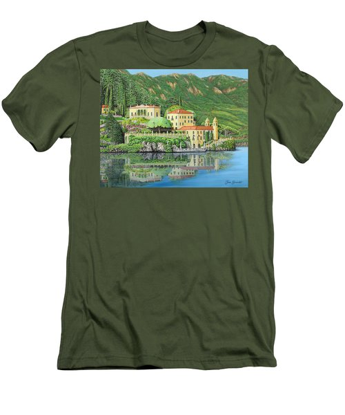 Lake Como Morning Men's T-Shirt (Athletic Fit)