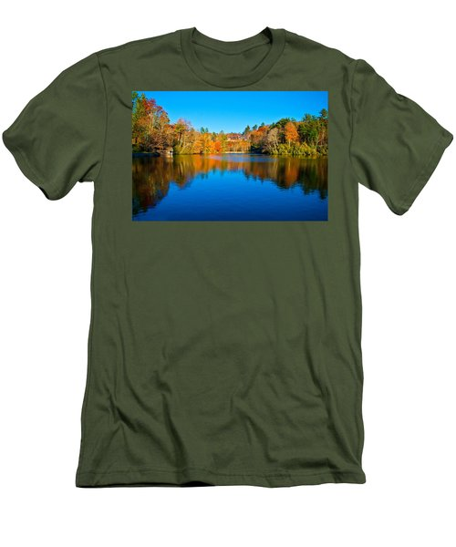 Men's T-Shirt (Slim Fit) featuring the photograph Lake Reflections by Alex Grichenko