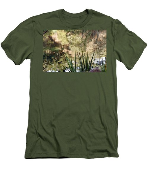 Men's T-Shirt (Slim Fit) featuring the photograph Lake Reflections by Kate Brown