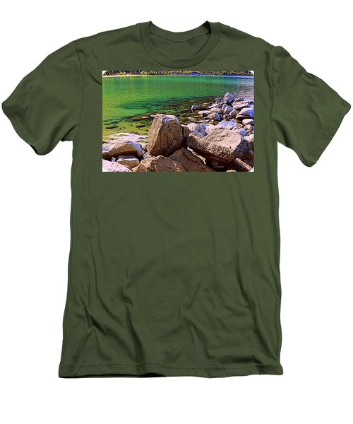 Lake Tahoe Green Men's T-Shirt (Athletic Fit)