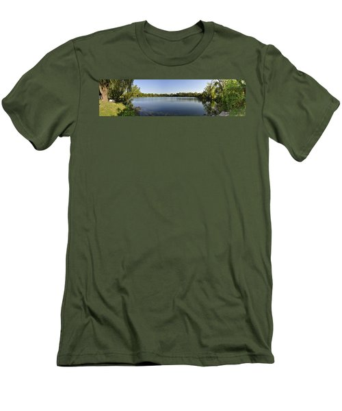 Men's T-Shirt (Slim Fit) featuring the photograph Lake Victory by Verana Stark