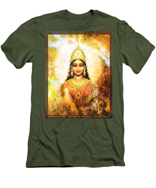 Lakshmi Goddess Of Abundance In A Galaxy Men's T-Shirt (Slim Fit) by Ananda Vdovic