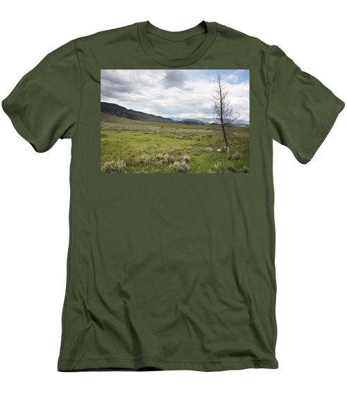 Men's T-Shirt (Slim Fit) featuring the photograph Lamar Valley No. 1 by Belinda Greb