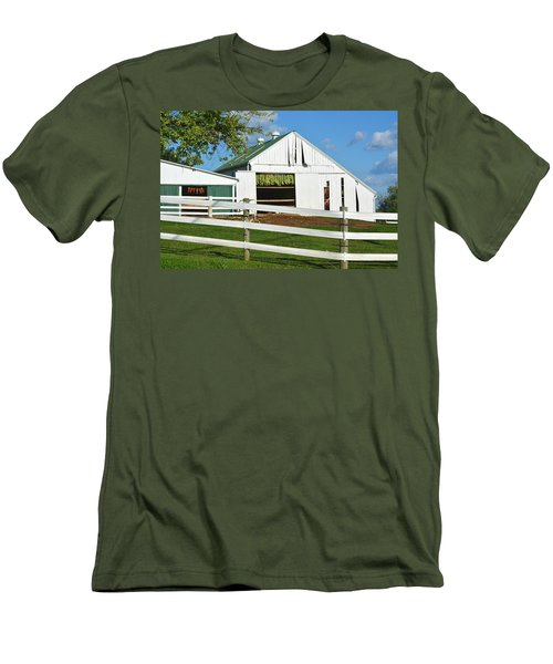 Lancaster County Tobacco Barn Men's T-Shirt (Athletic Fit)